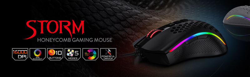 Redragon M808 RGB Storm Honeycomb Gaming Mouse