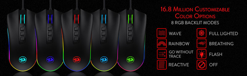 16.8 Million Customizable Color Options. 8 RGB Mo