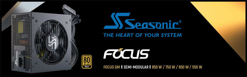 Seasonic The Heart of Your System Focus GM 650