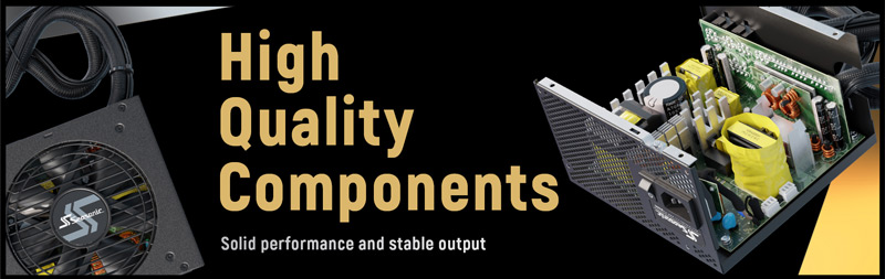 High Quality Components, solid performance and stable output