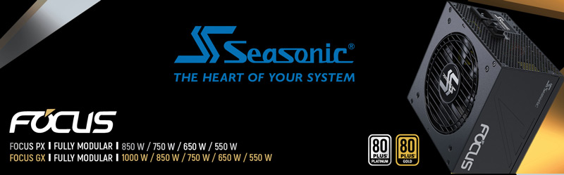 Seasonic. The heart of your system. Fully modular.