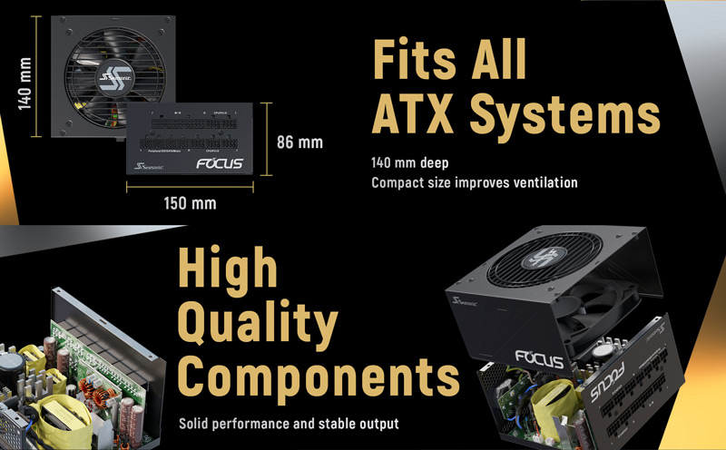 Fits All ATX Systems. High Quality Components. Solid performance and stable output.