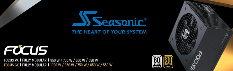 Seasonic The Heart Of Your System. Fully modular.