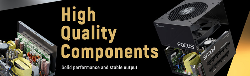 High Quality Components. Solid performance and stable output.