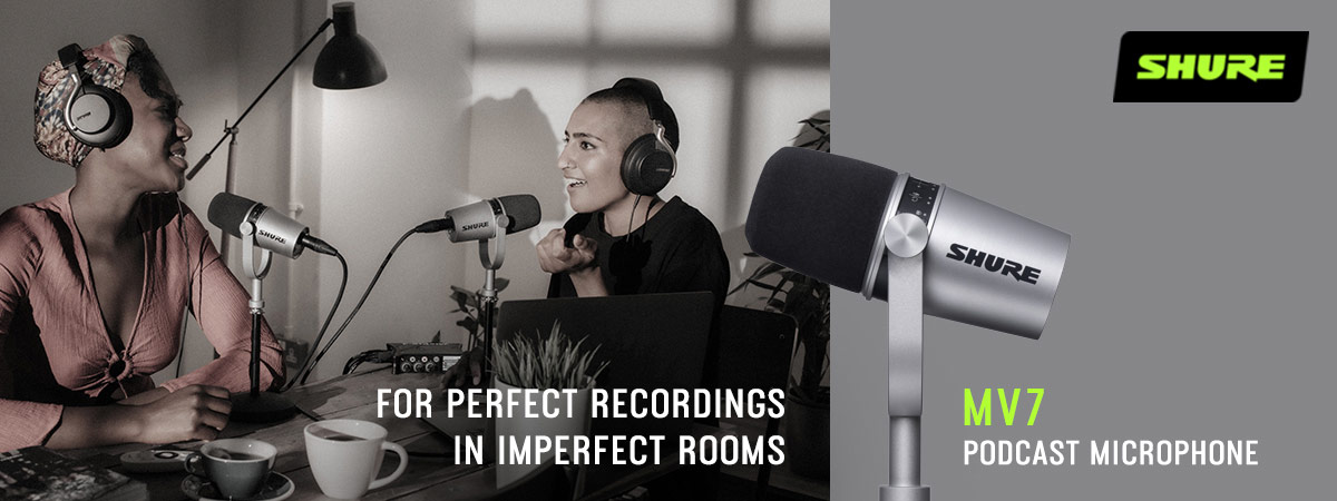 Shure MV7 Podcast Microphone - For perfect recordings in imperfect rooms