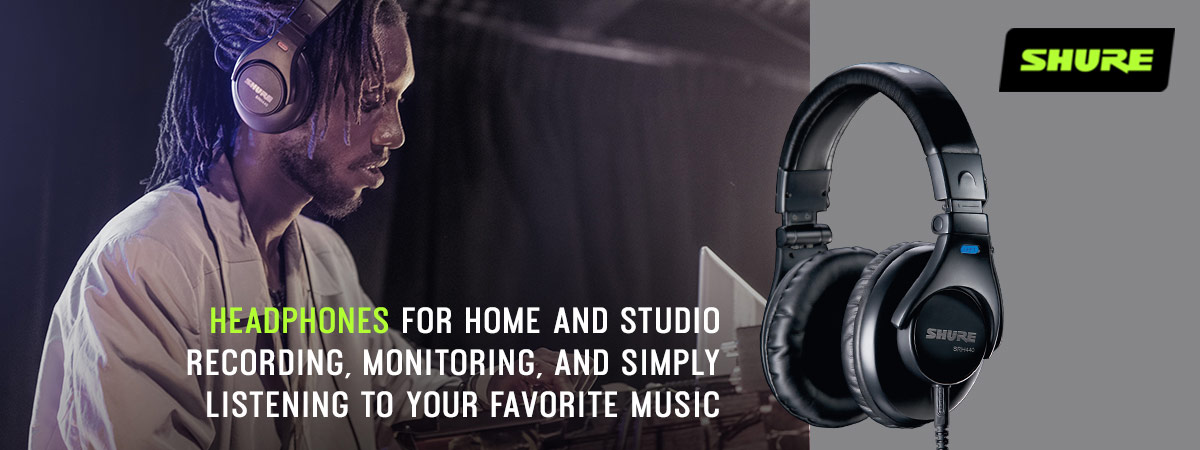 Shure Headphones - For home and studio recording, monitoring, and simply listening to your favorite music