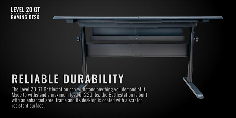 Thermaltake Gaming table Reliable Durability