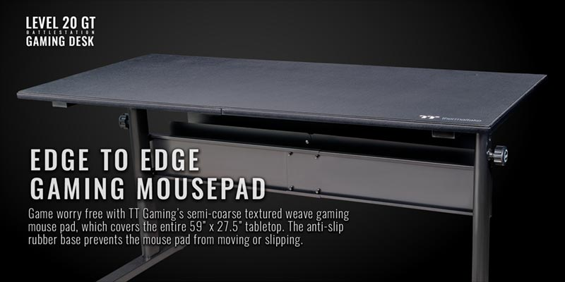 Thermaltake Gaming table Edge to edge gaming mousepad