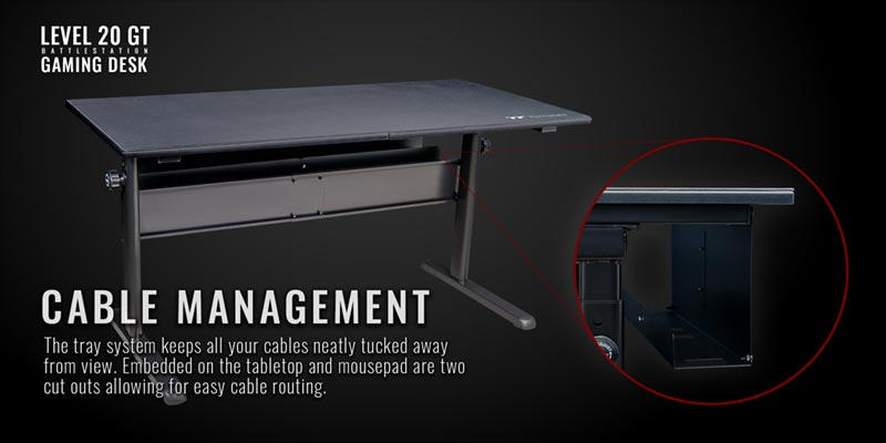 Thermaltake Gaming table cable management