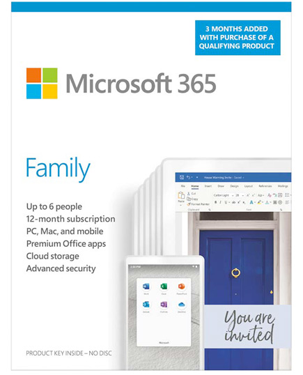Microsoft 365 Family 2 to 6 people