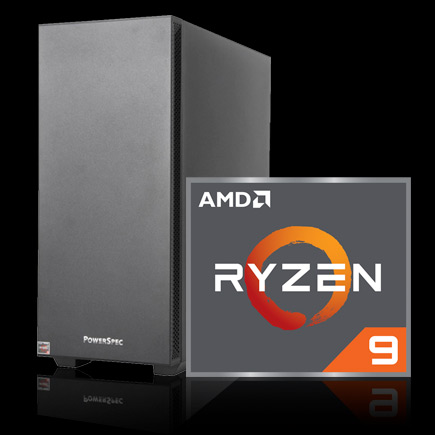 PowerSpec G464 Gaming Computer with AMD Ryzen 9 icon
