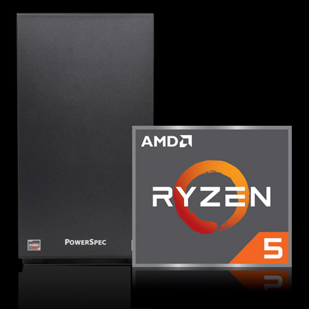 PowerSpec B246 business computer with AMD Ryzen 5 Icon