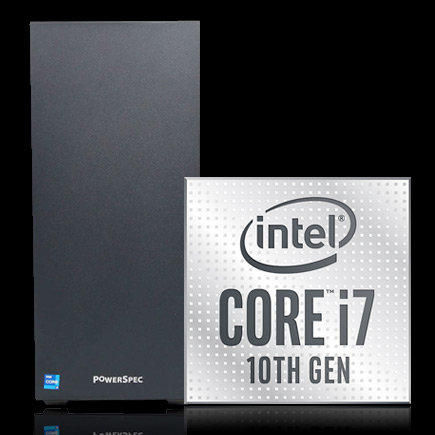PowerSpec G437 Gaming Computer with Intel Core i7 10th Gen icon