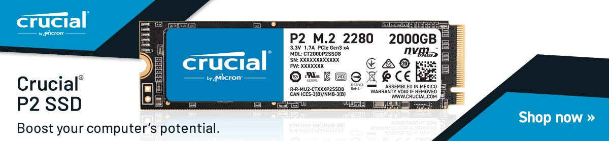Crucial P2 SSD - Boost your computer's potential - Shop Now