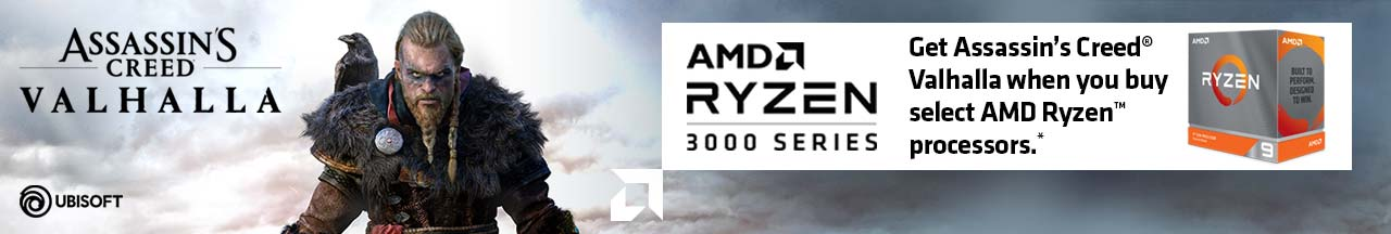 Get Assassin's Creed Valhalla when you buy select AMD Ryzen processors.