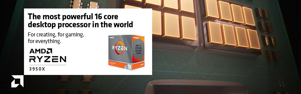 AMD Ryzen 3950X - the most powerful 16 core desktop processor in the world for creating, for gaming, for everything.