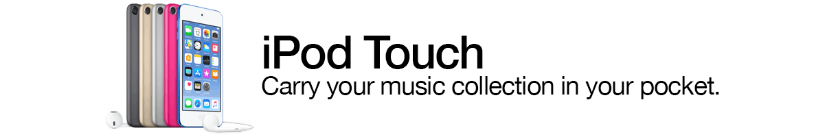 iPod Touch. Carry your music collection in your pocket.