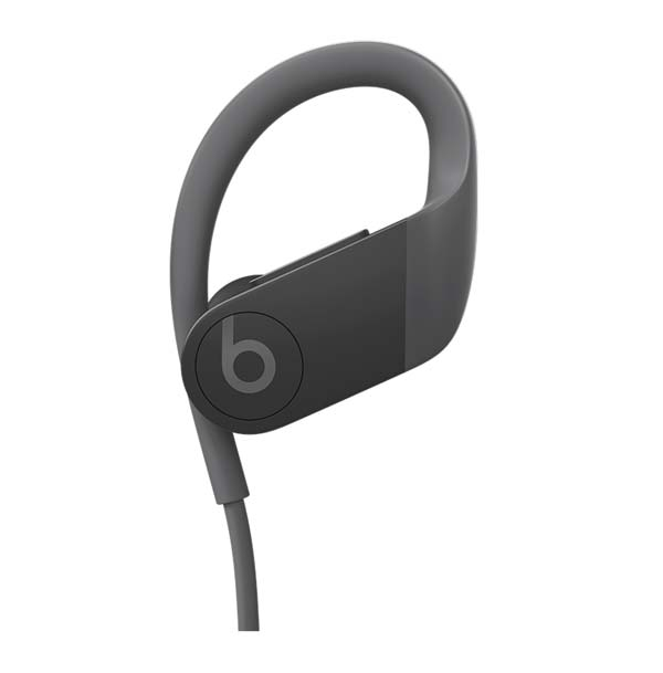 Powerbeats black front view